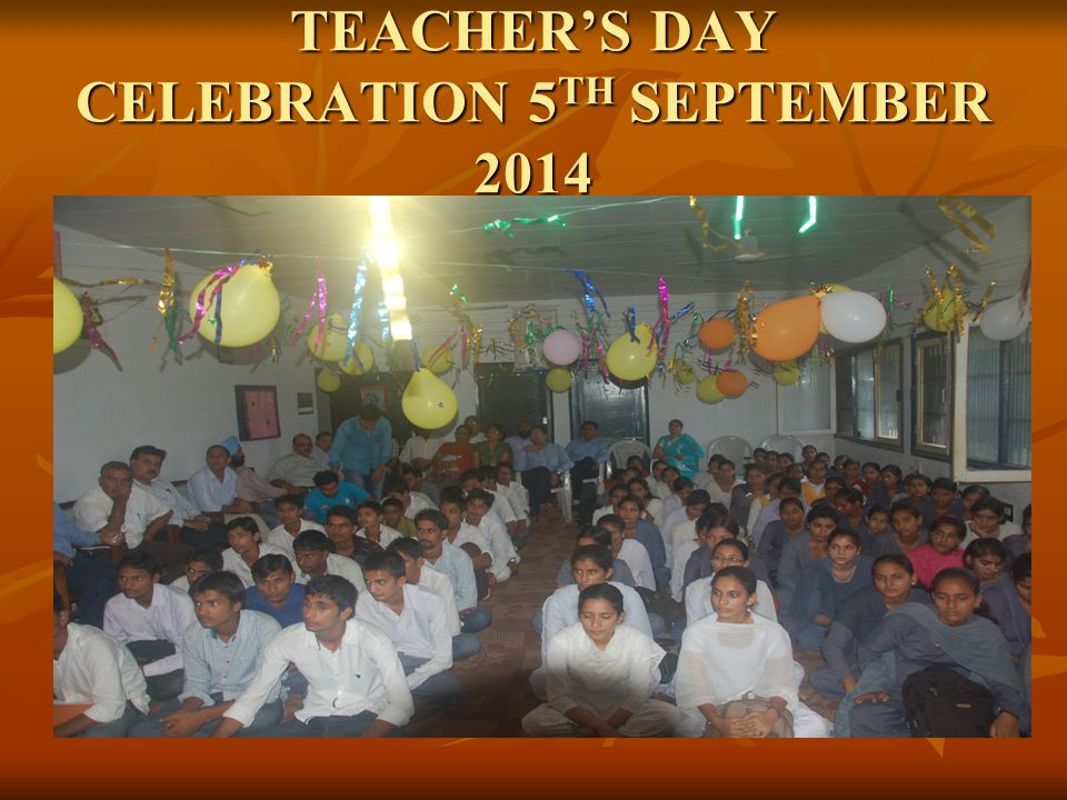 TEACHER'S DAY CELEBRATION 5TH SEPTEMBER 2014