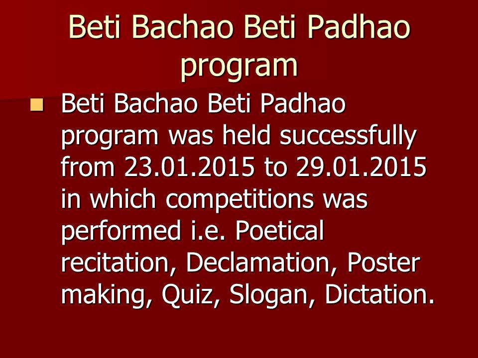 Beti Bachao Beti Padhao program