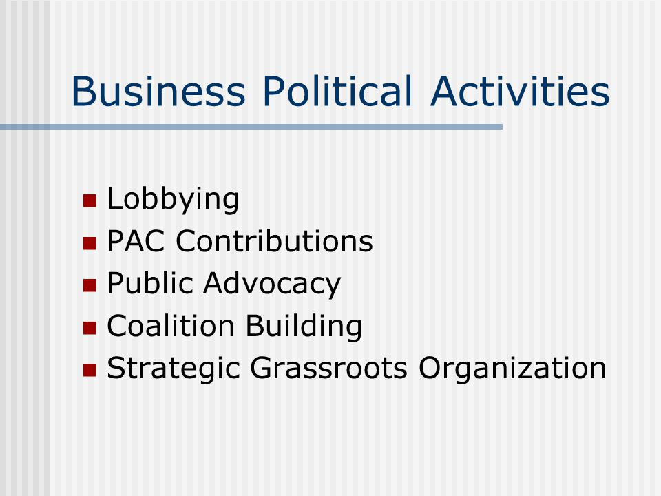 Business Political Activities