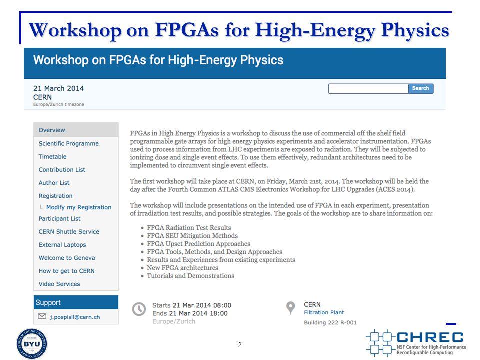 Workshop on FPGAs for High-Energy Physics