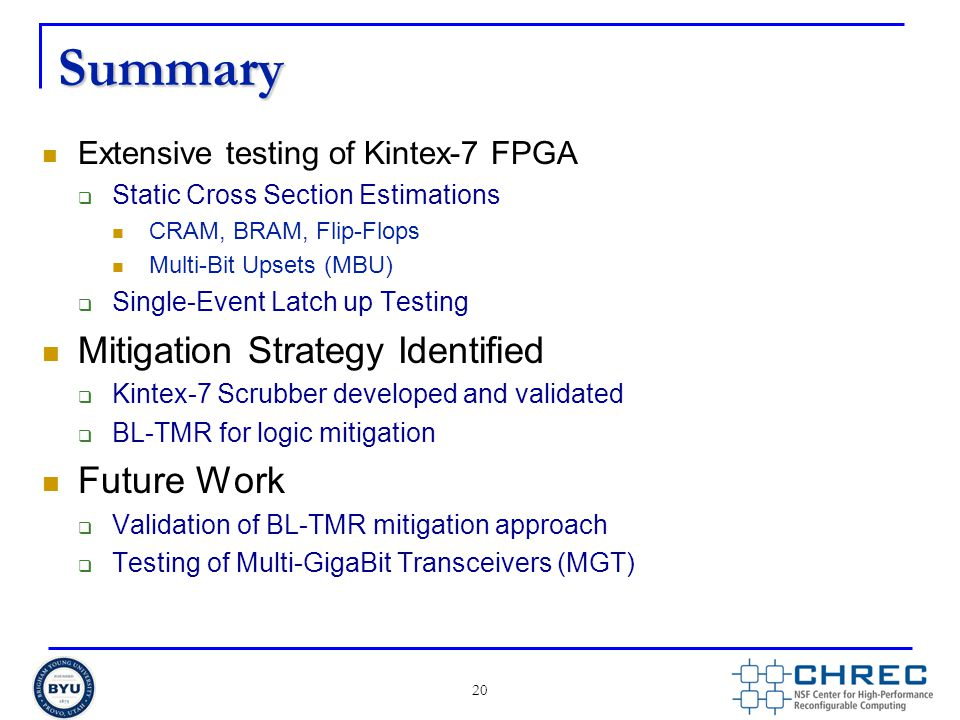 Summary Mitigation Strategy Identified Future Work