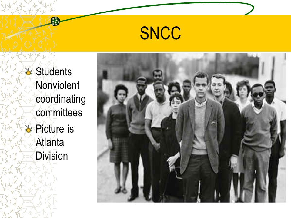 SNCC Students Nonviolent coordinating committees