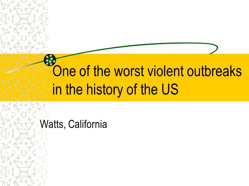 One of the worst violent outbreaks in the history of the US