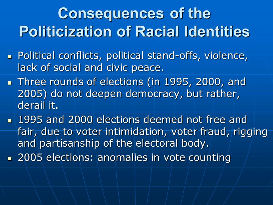 Consequences of the Politicization of Racial Identities