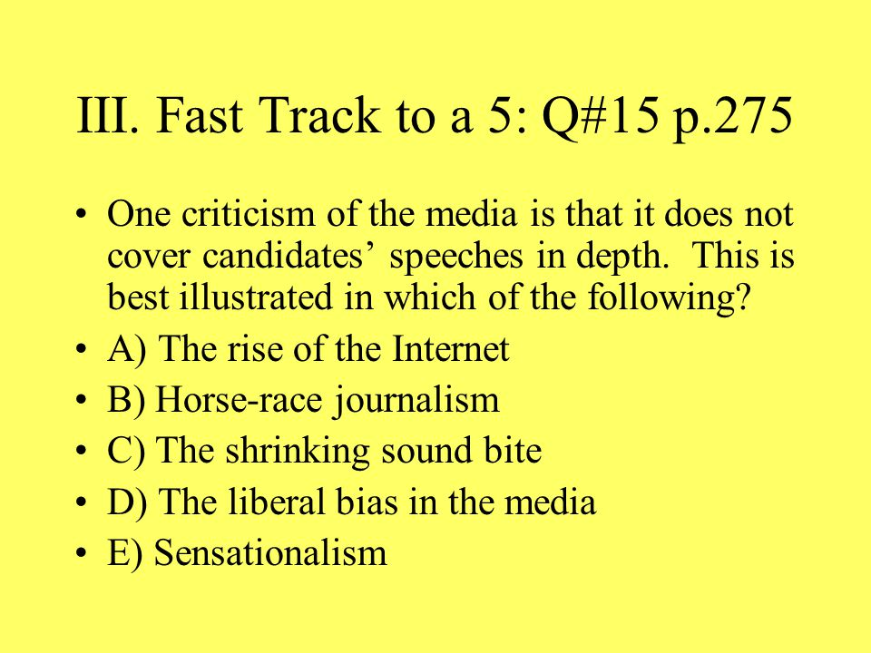 III. Fast Track to a 5: Q#15 p.275