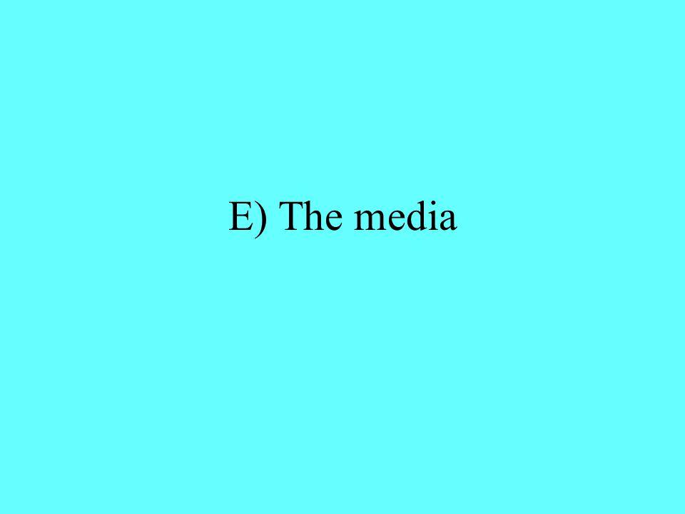 E) The media