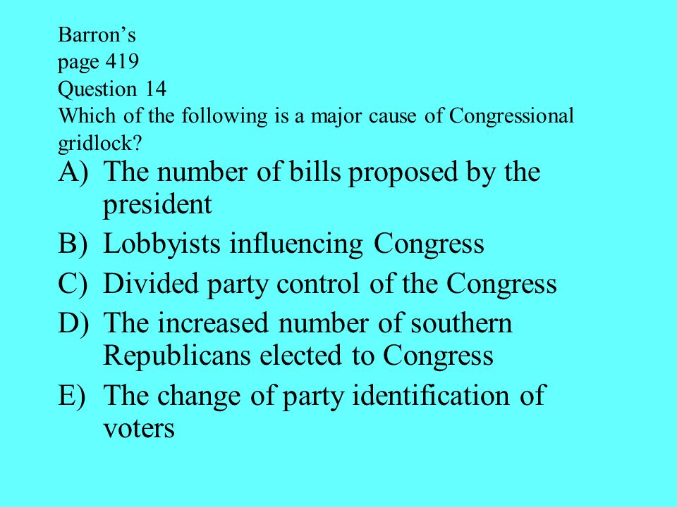 The number of bills proposed by the president