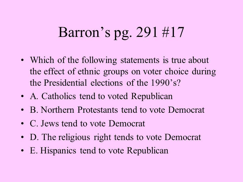 Barron's pg. 291 #17