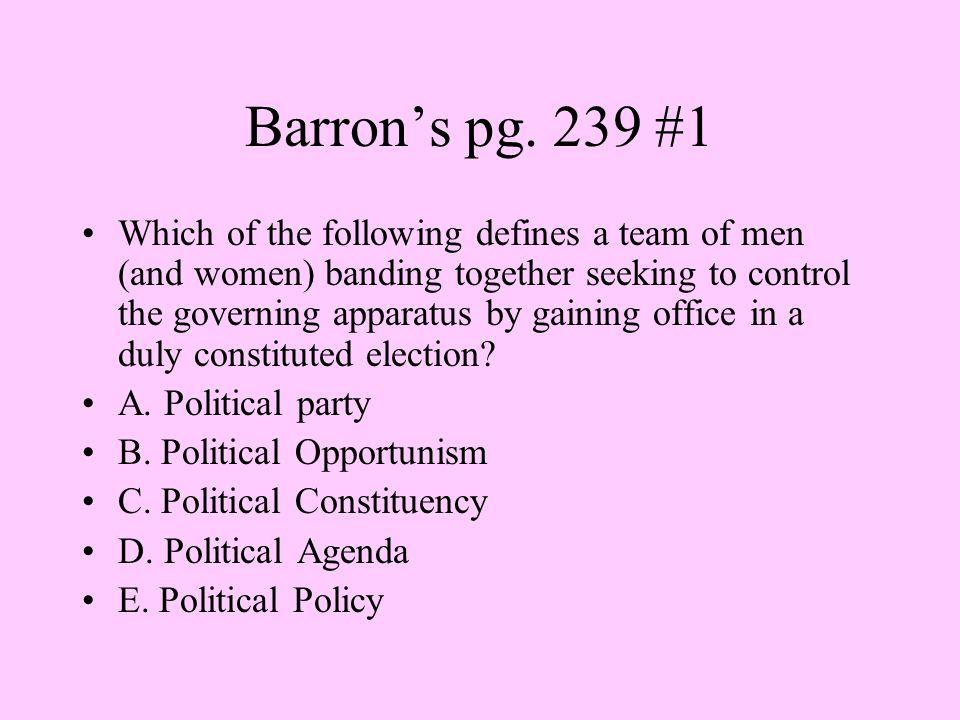 Barron's pg. 239 #1
