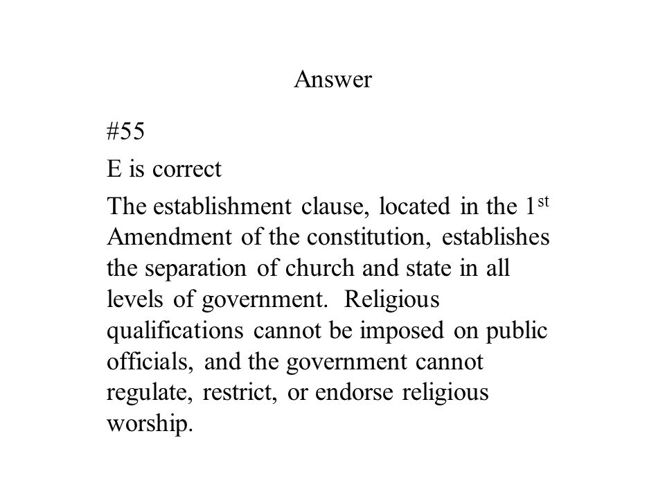 Answer #55. E is correct.
