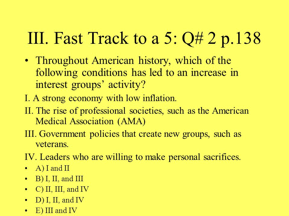 III. Fast Track to a 5: Q# 2 p.138