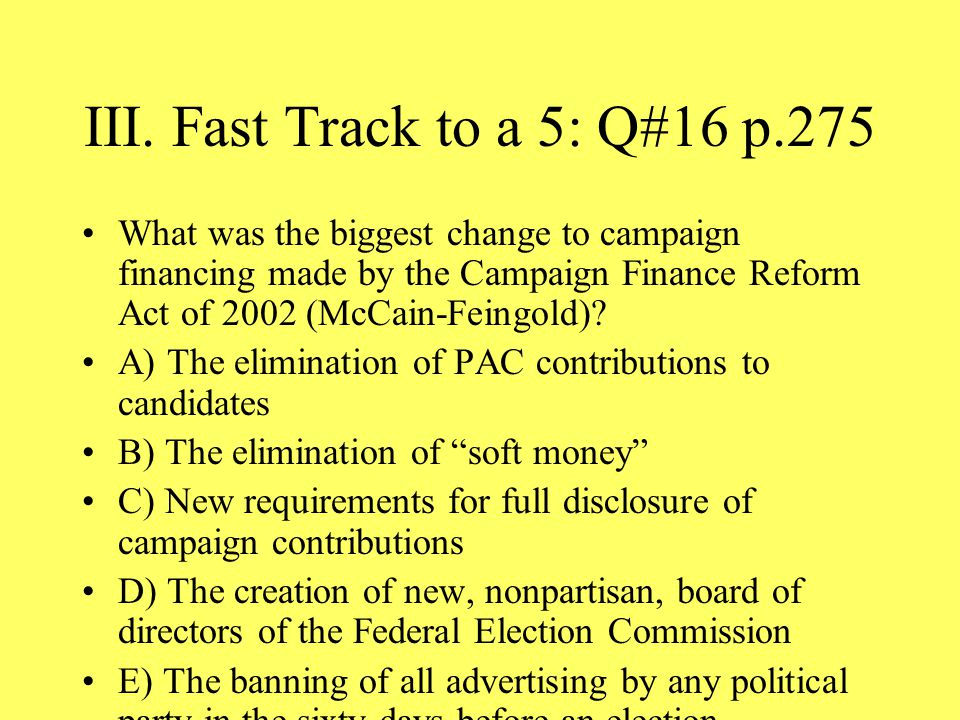 III. Fast Track to a 5: Q#16 p.275