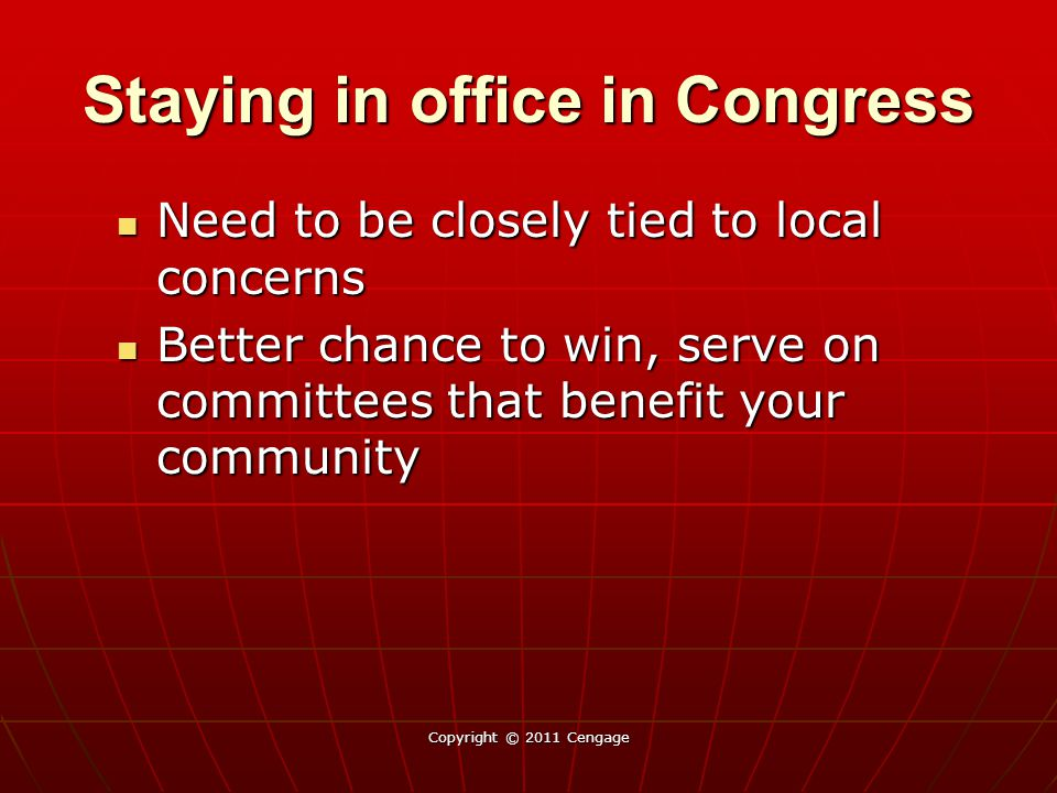 Staying in office in Congress