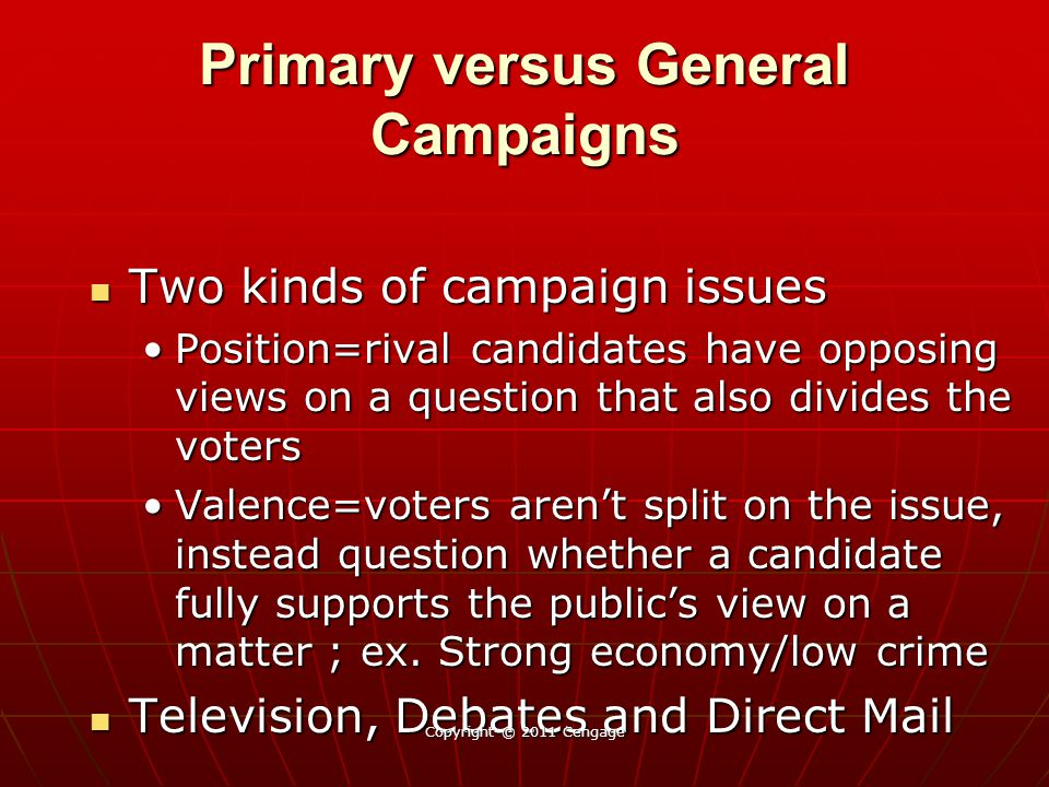 Primary versus General Campaigns