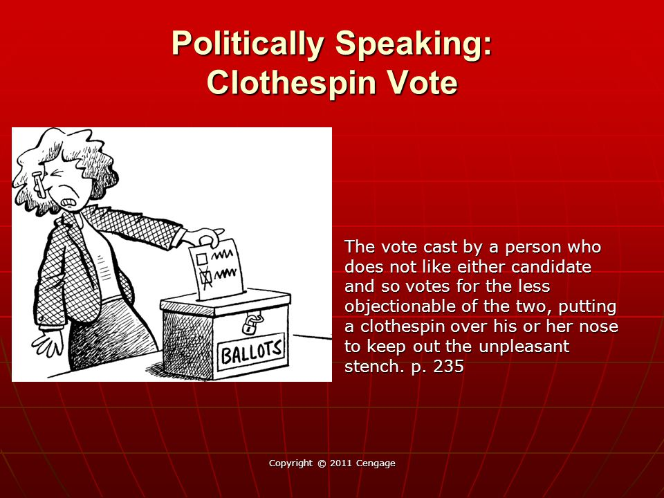Politically Speaking: Clothespin Vote