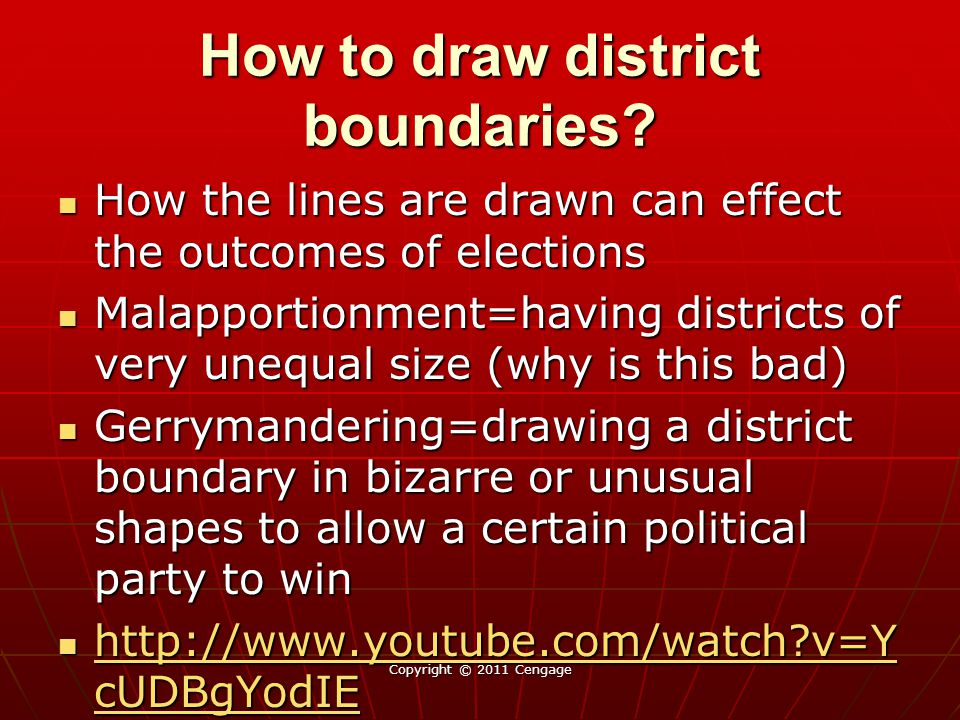 How to draw district boundaries