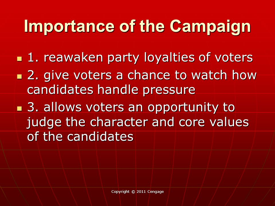Importance of the Campaign