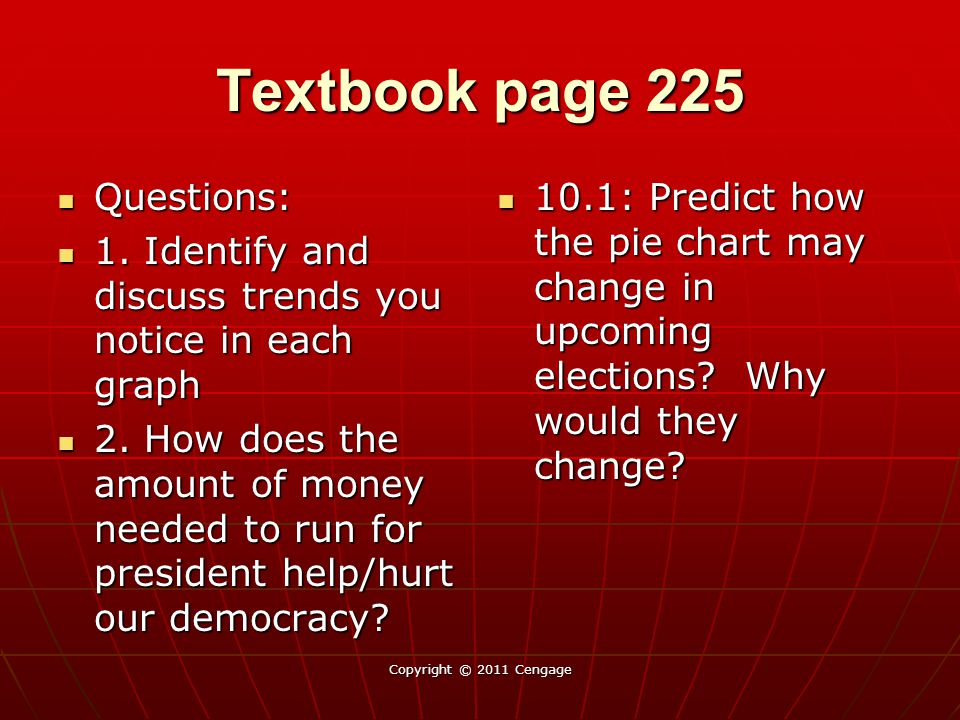 Textbook page 225 Questions: