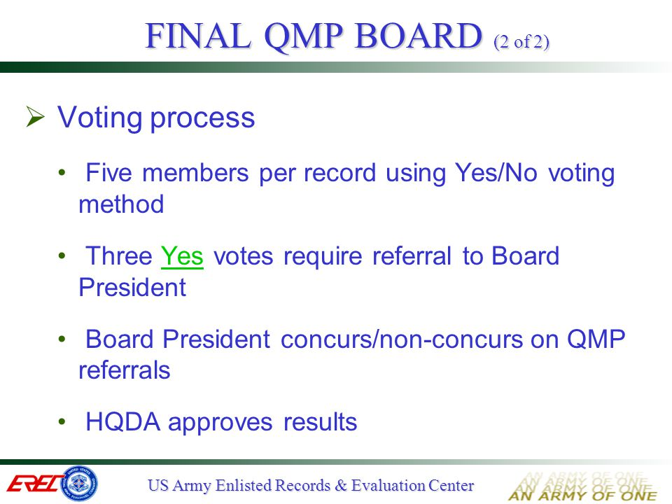 FINAL QMP BOARD (2 of 2) Voting process