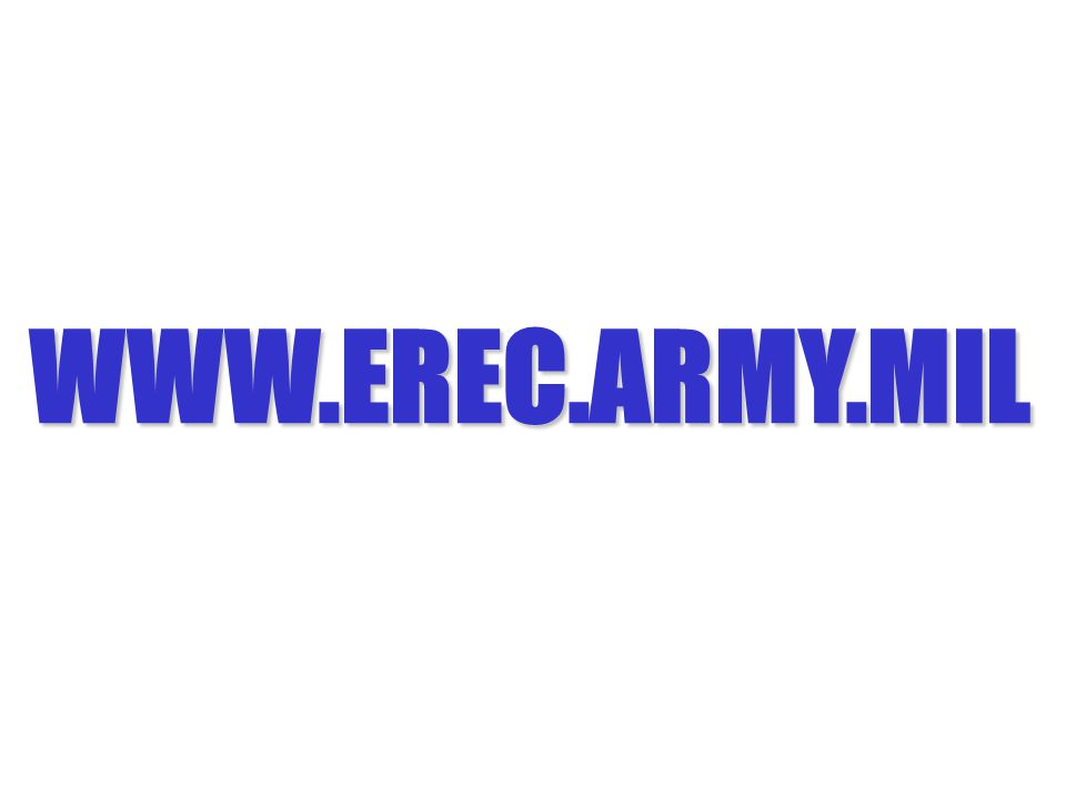 WWW.EREC.ARMY.MIL Slide 61: EREC's Web Site Address.