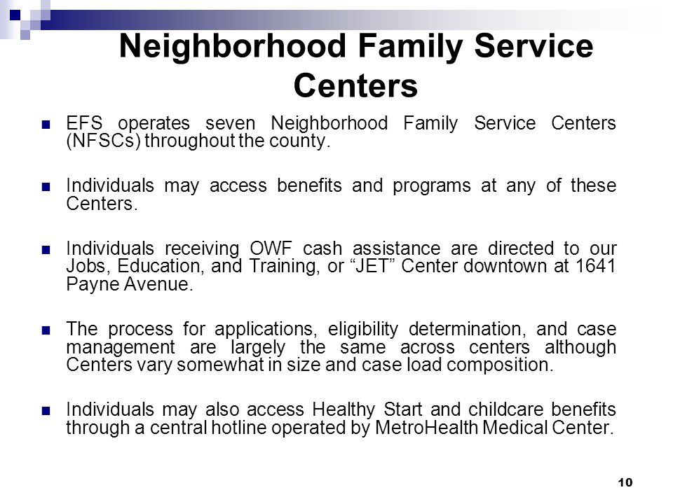 Neighborhood Family Service Centers