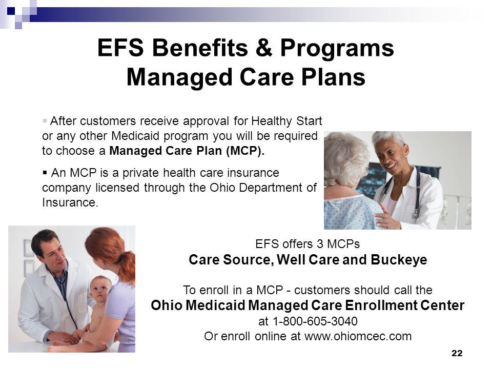EFS Benefits & Programs Managed Care Plans