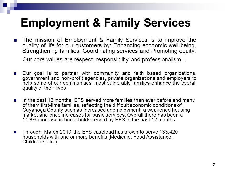 Employment & Family Services