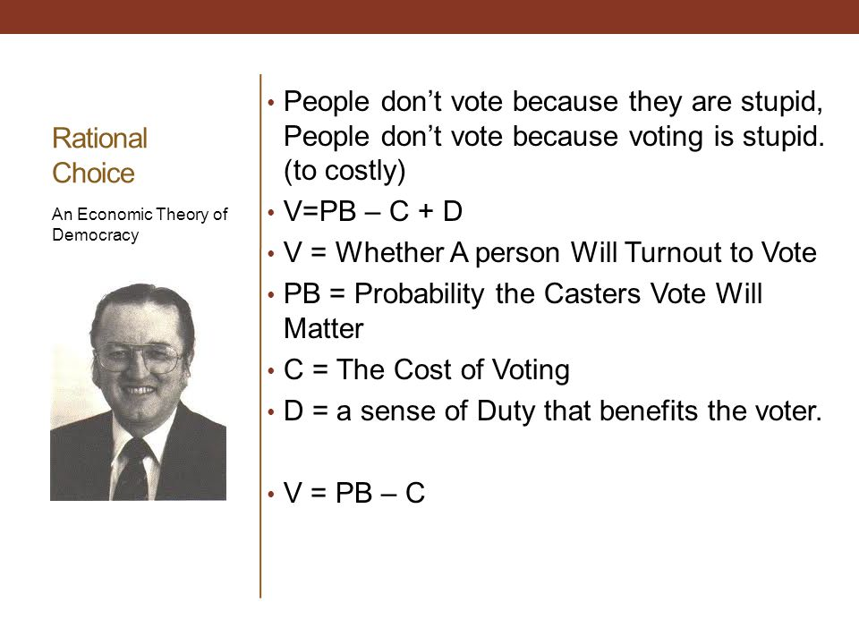 V = Whether A person Will Turnout to Vote