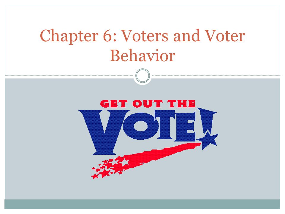 Chapter 6: Voters and Voter Behavior