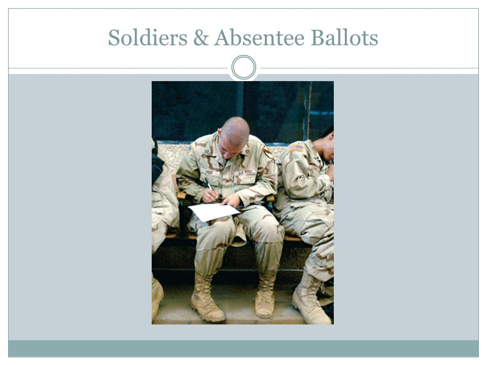 Soldiers & Absentee Ballots