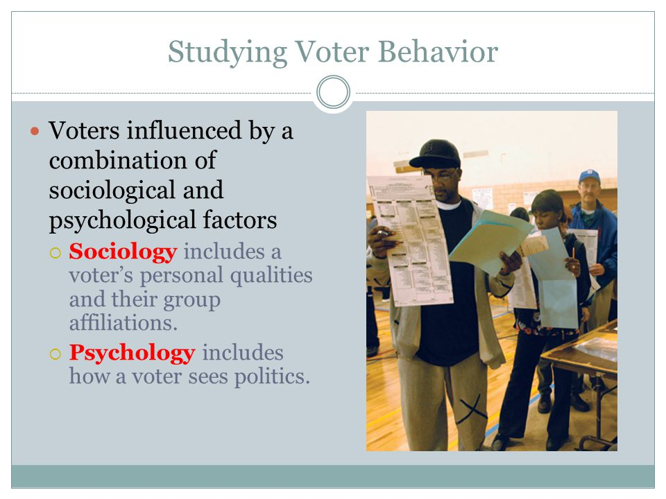 Studying Voter Behavior