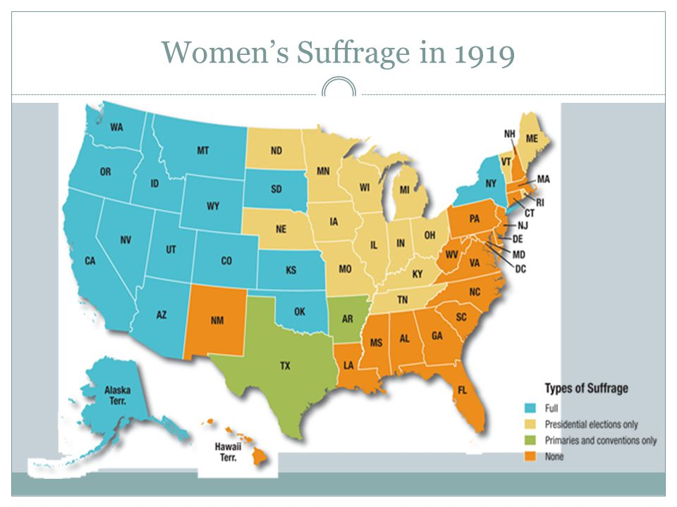Women's Suffrage in 1919