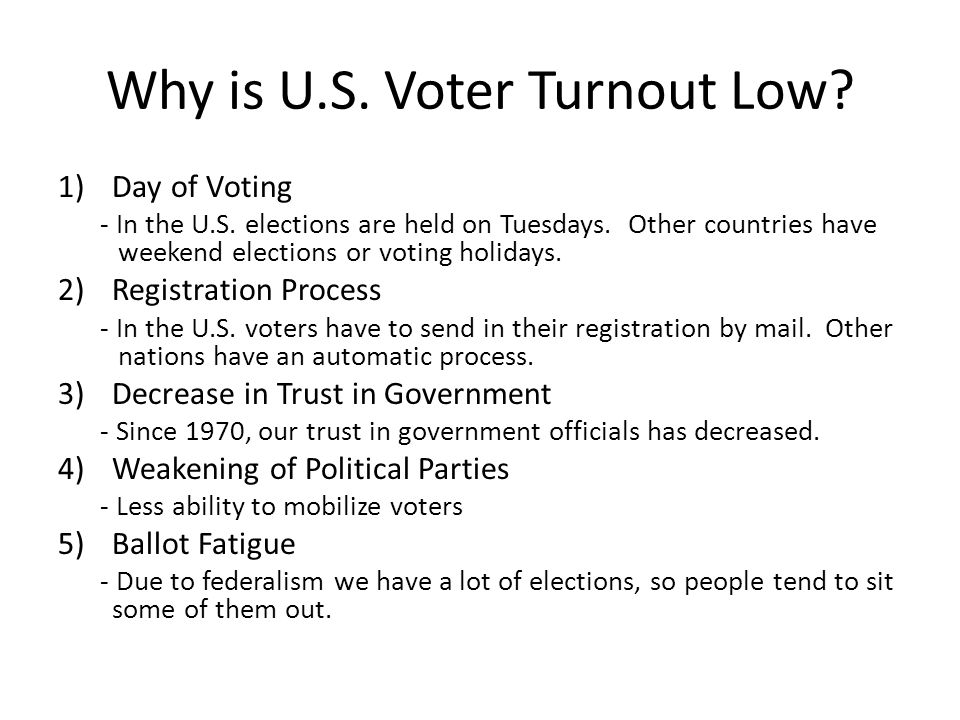 Why is U.S. Voter Turnout Low