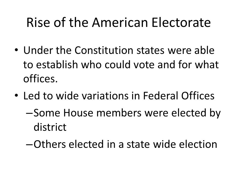 Rise of the American Electorate