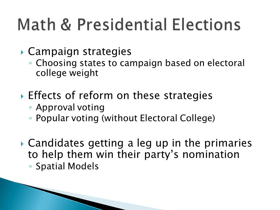 Math & Presidential Elections
