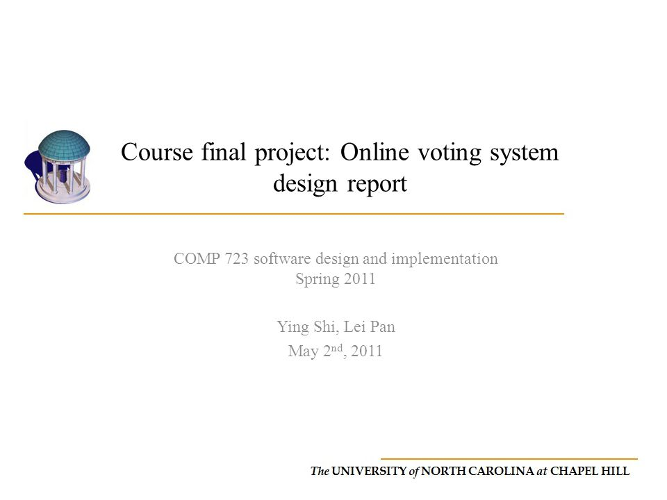 Course final project: Online voting system design report
