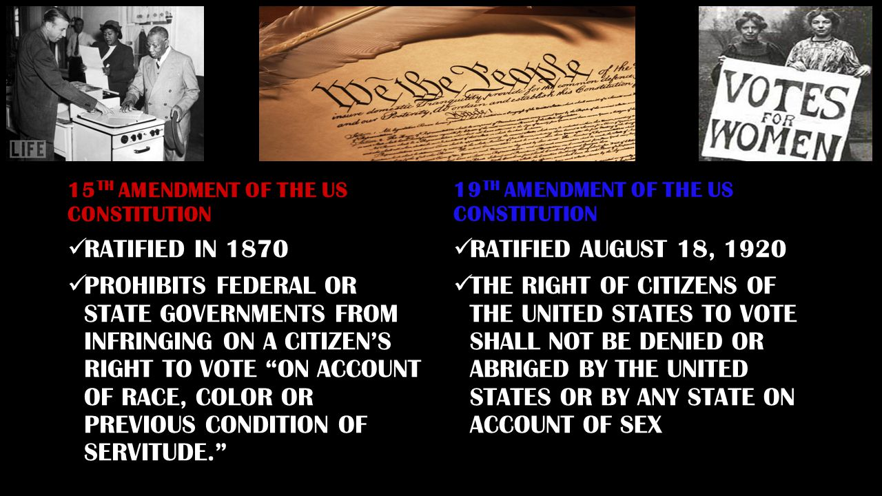 15TH AMENDMENT OF THE US CONSTITUTION