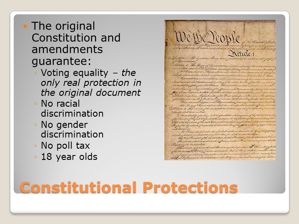 Constitutional Protections