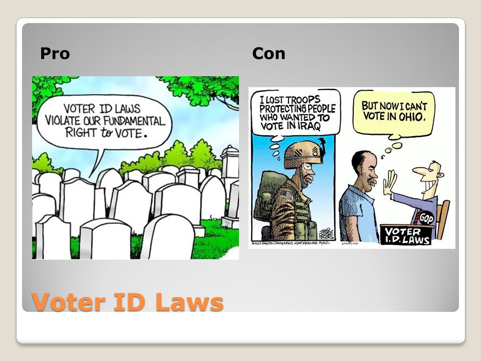 Pro Con Voter ID Laws