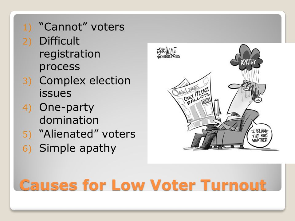 Causes for Low Voter Turnout
