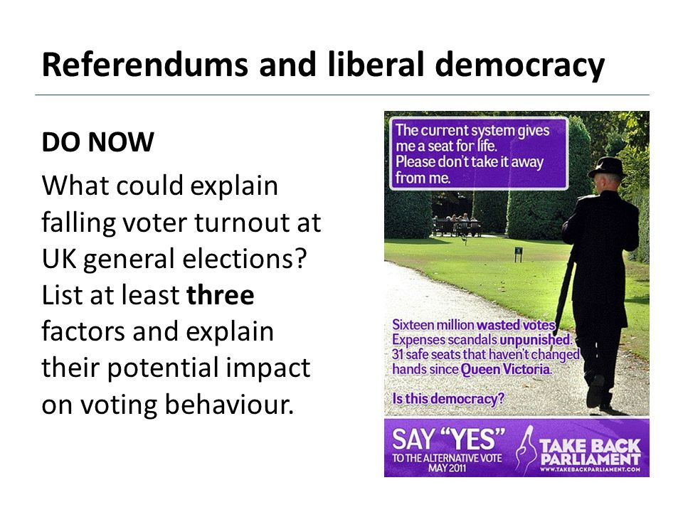 Referendums and liberal democracy