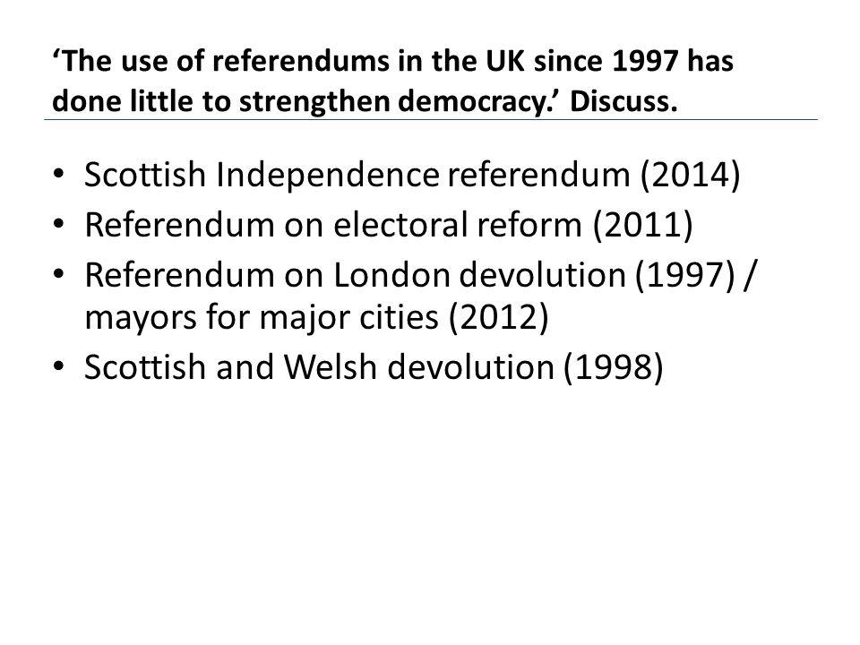 Scottish Independence referendum (2014)