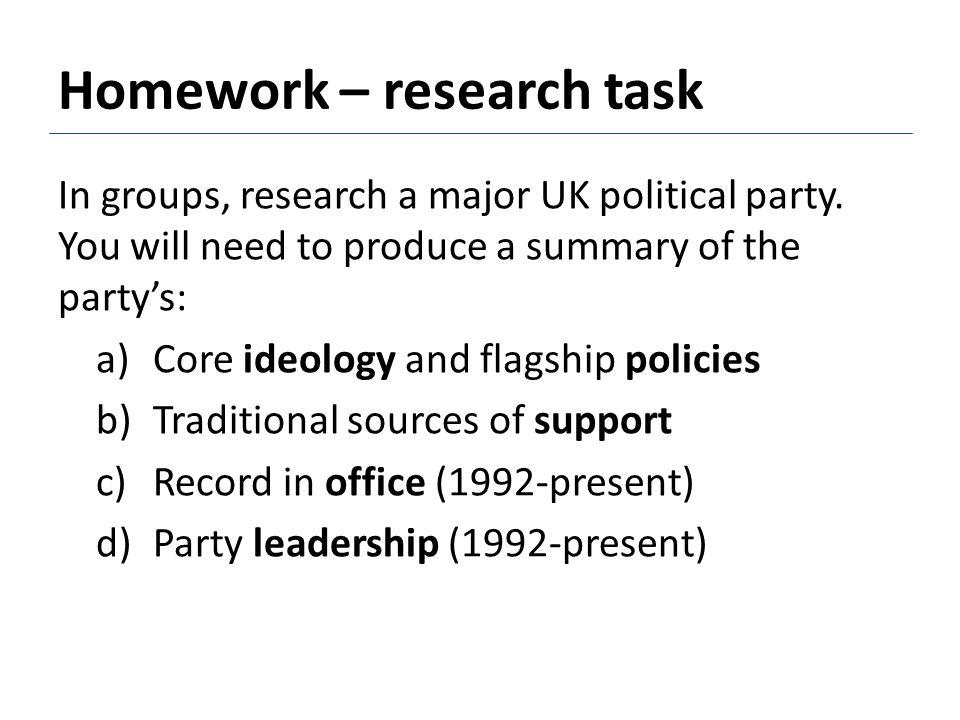 Homework – research task