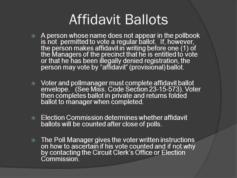 Affidavit Ballots