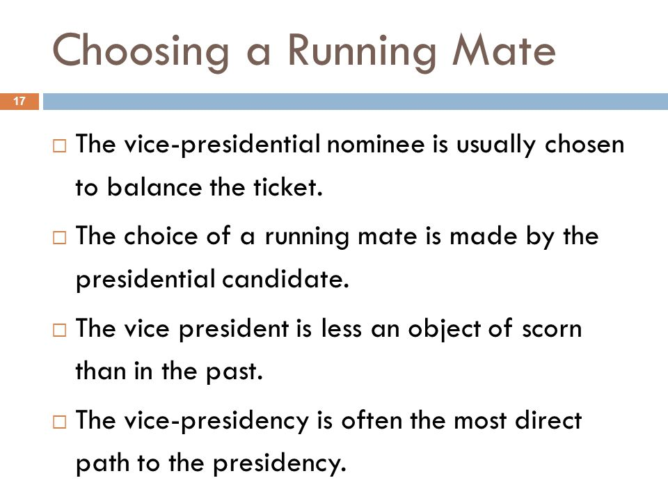 Choosing a Running Mate