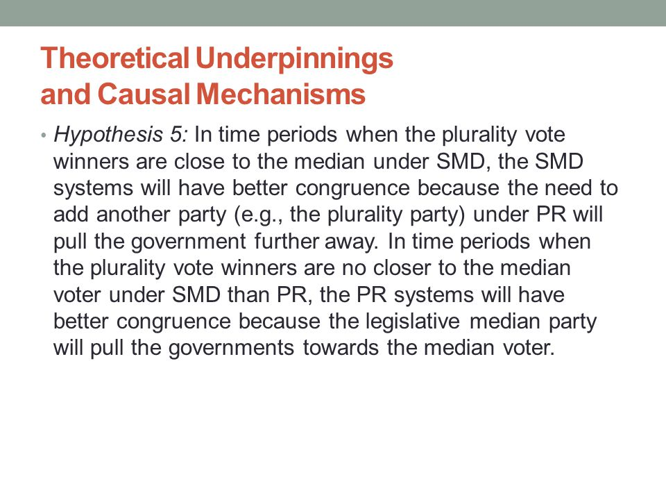Theoretical Underpinnings and Causal Mechanisms