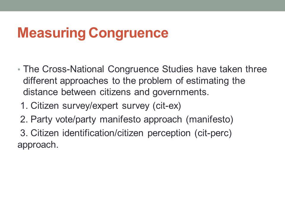 Measuring Congruence