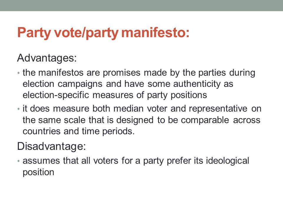 Party vote/party manifesto: