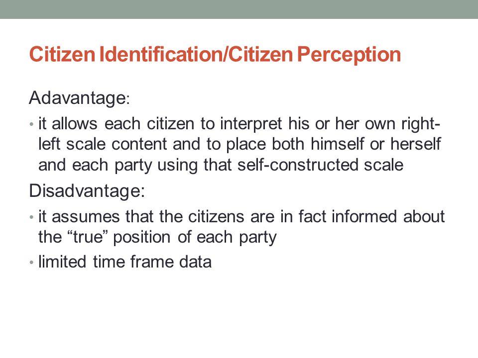 Citizen Identification/Citizen Perception