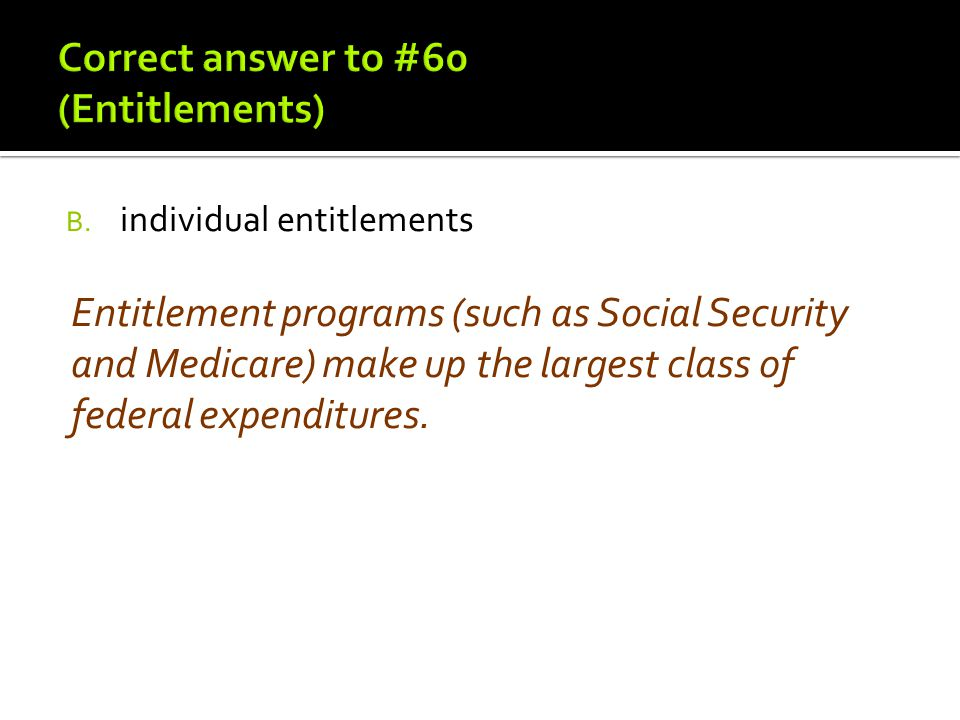 Correct answer to #60 (Entitlements)